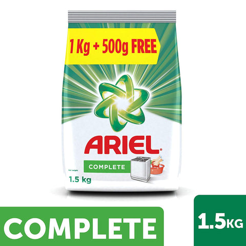 ARIEL COMPLETE WASHING POWDER 1.5KG MRP RS249