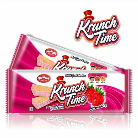 KRUNCH TIME STRAWBERRY WAFER  BUY1 GUT1 FREE MRP RS45