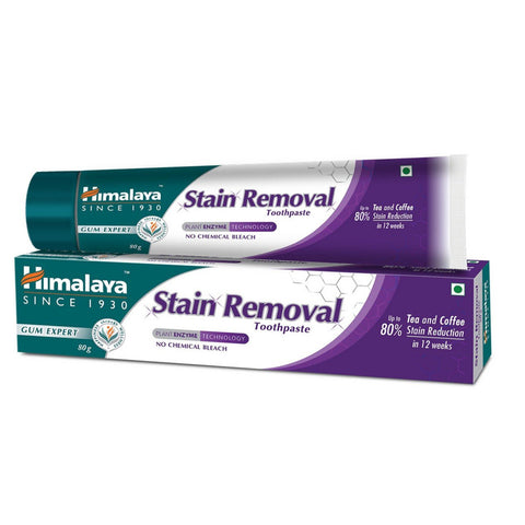 HIMALAYA STAIN REMOVAL TOOTHPASTE 80GM MRP RS67