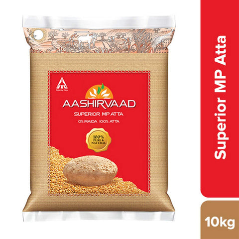 AASHIRVAAD SUPERIOR MP ATTA 10KG MRP RS440