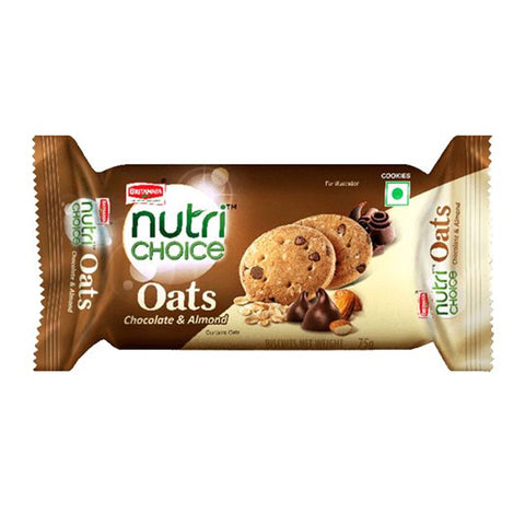 BRITANNIA OATS CHOCOLATE ALMOND BISCUT