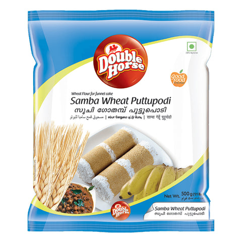 DOUBLE HORSE SAMBA WHEAT PUTTUPODI 500GM MRP RS74