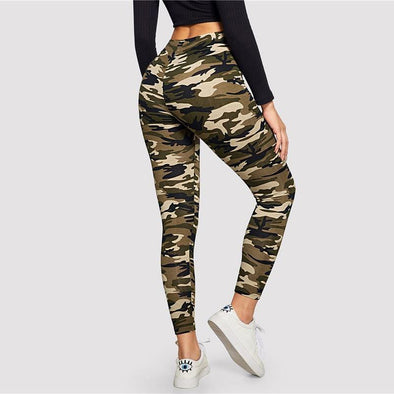 Camo Print Leggings - Chic Sara