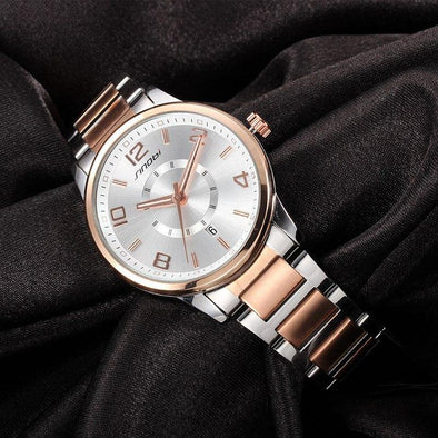 Elegant Quartz Date Watch - Chic Sara