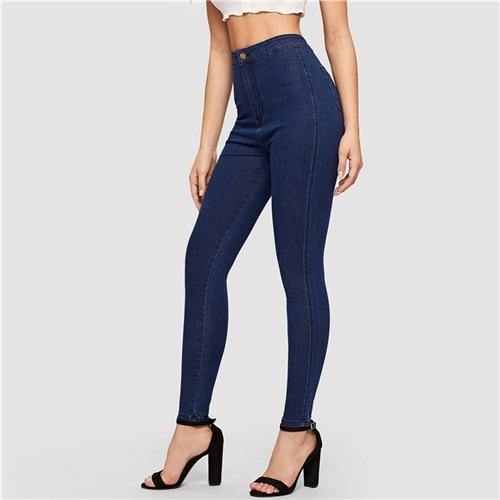 Casual High Waist Skinny Jeans