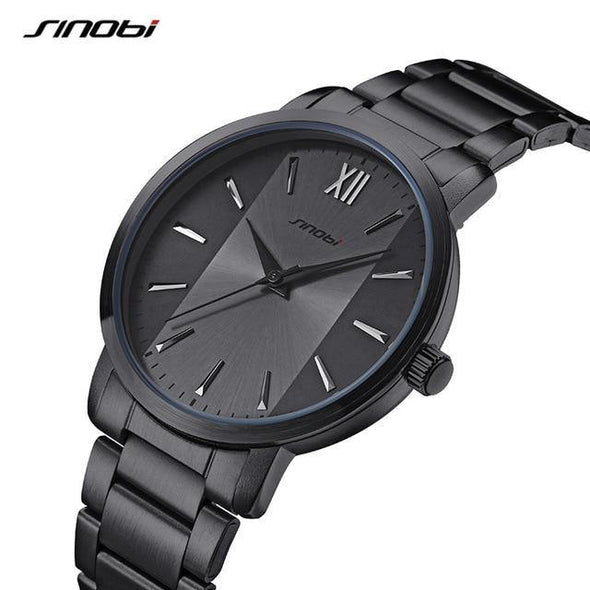 Luxury Analog Watch with Leather Band