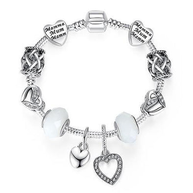 Luxury 925 Sterling Silver Charm Bracelet - Chic Sara