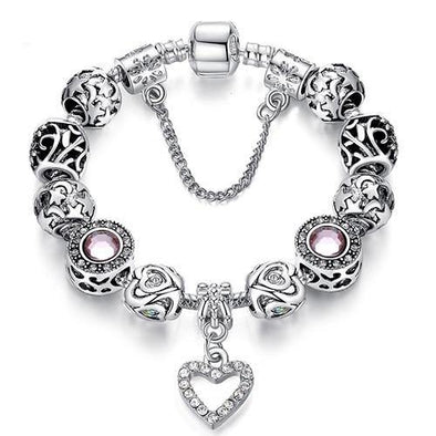 Luxury 925 Sterling Silver Charm Bracelet