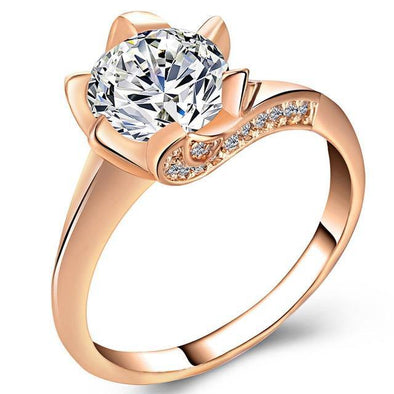 Big Cubic Zirconia Ring - Chic Sara