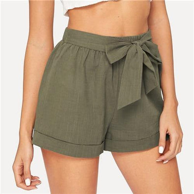 Casual Army Green Shorts