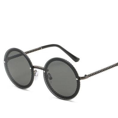 Retro Oval Mirror Sunglasses - Chic Sara