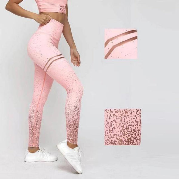 Casual Pink Gym Leggings - Chic Sara