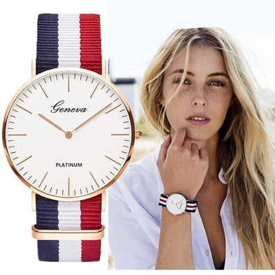 Classic Fashionable Watch with Nylon Strap