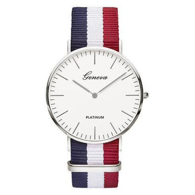 Classic Fashionable Watch with Nylon Strap - Chic Sara