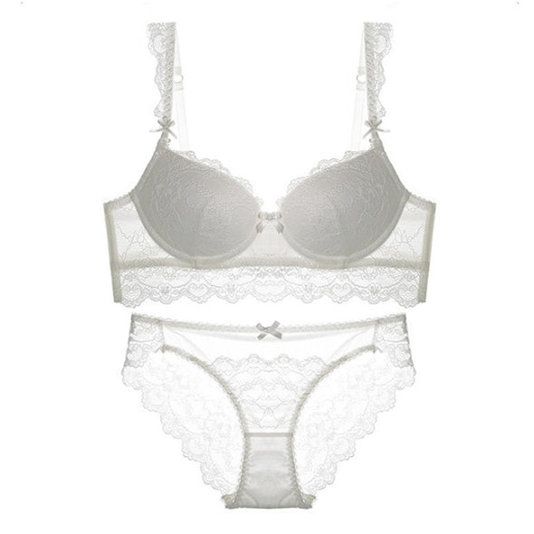 Lace Padded Bra Set Full Cup