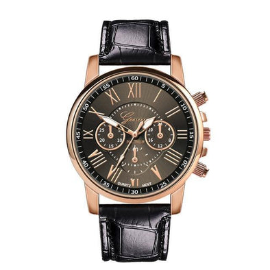 Women's Watches Luxury Famous Brand New Fashion Women Leather Band Stainless Steel Quartz Analog Wrist Watch Clock Mechanism - Chic Sara