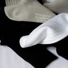 NISHIGUCHI EGYPTIAN COTTON RIBBED SOCKS M