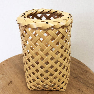 Bamboo Flower Vase Basket