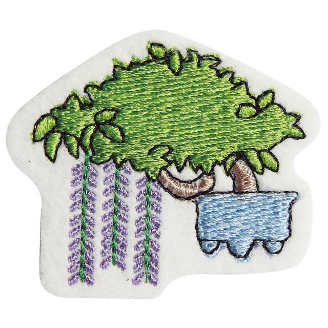 Embroidery patch ''Wisteria''