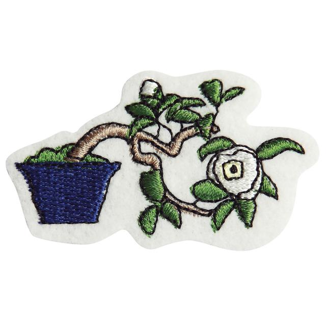 Embroidery patch ''Camellia''