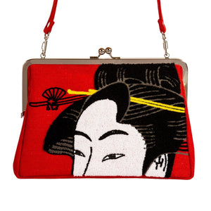 Clutch bag / Girl Blowing Vidro