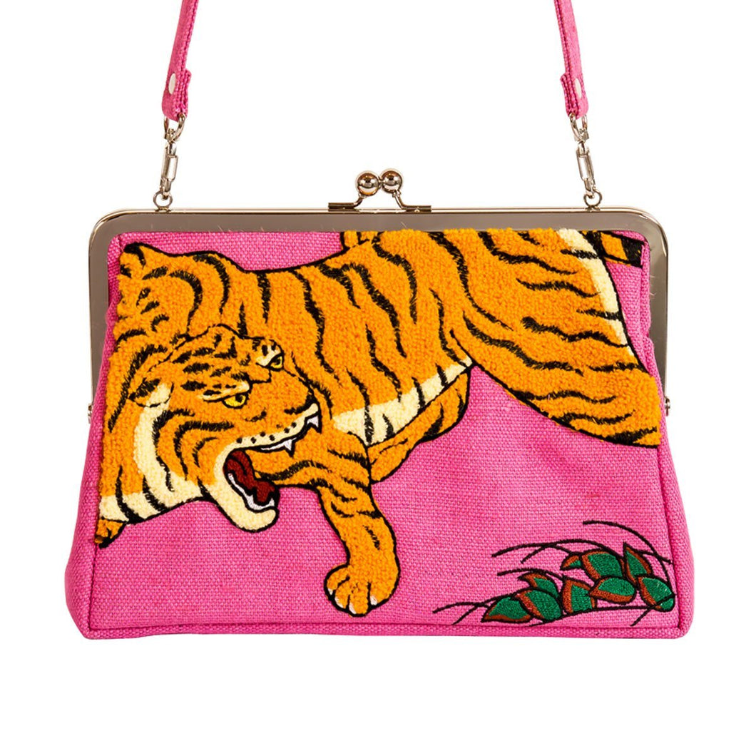 Clutch bag / Dragon And Tigers by Kano Sanraku