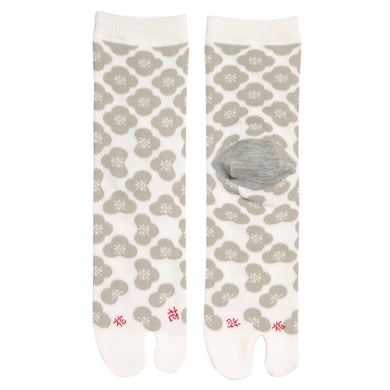 Tabi Socks / Flower Gray