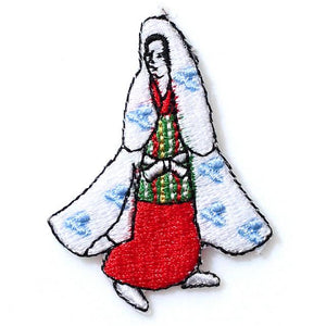 Embroidery patch ''Lady 4''