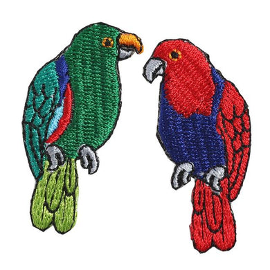 Embroidery patch ''Parakeet''