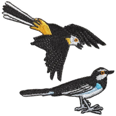 Embroidery patch ''Wagtail''