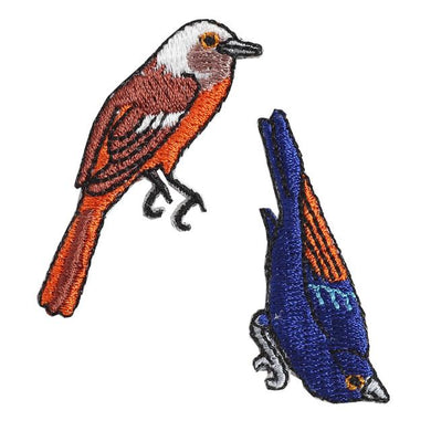 Embroidery patch ''Flycatcher''
