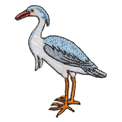 Embroidery patch ''Grey Heron''
