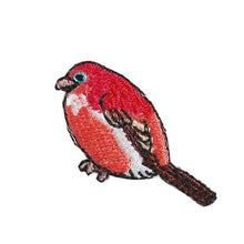 Embroidery patch ''Palla's Rosefinch''