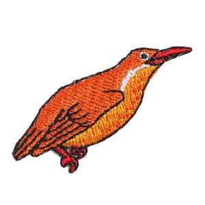 Embroidery patch ''Ruddy Kingfisher / Black-capped Kingfisher''