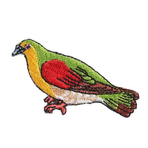 Embroidery patch ''White-bellied Green Pigeon''