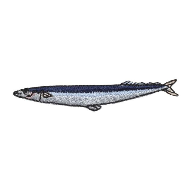 Embroidery patch ''Saury''