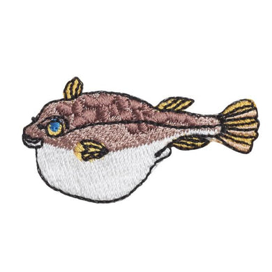 Embroidery patch ''Pufferfish''