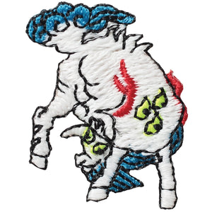 "Embroidery patch ""Hakutaku the white ox"""