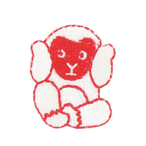 Embroidery patch ''Three wise monkeys''