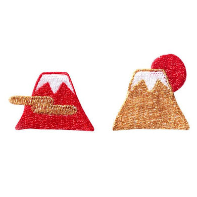 Embroidery patch ''Mt. Fuji'' [Red]