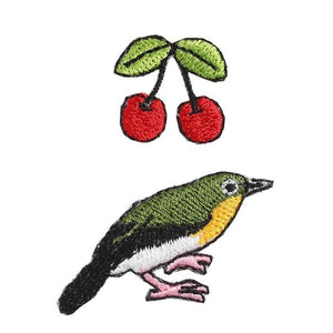 Embroidery patch ''White-eye''