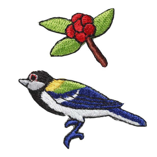 Embroidery patch ''Oriental Tit''
