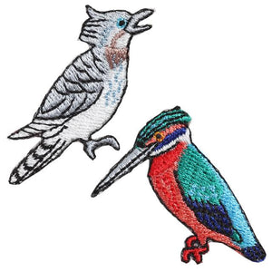 Embroidery patch ''Kingfisher / Crested Kingfisher''