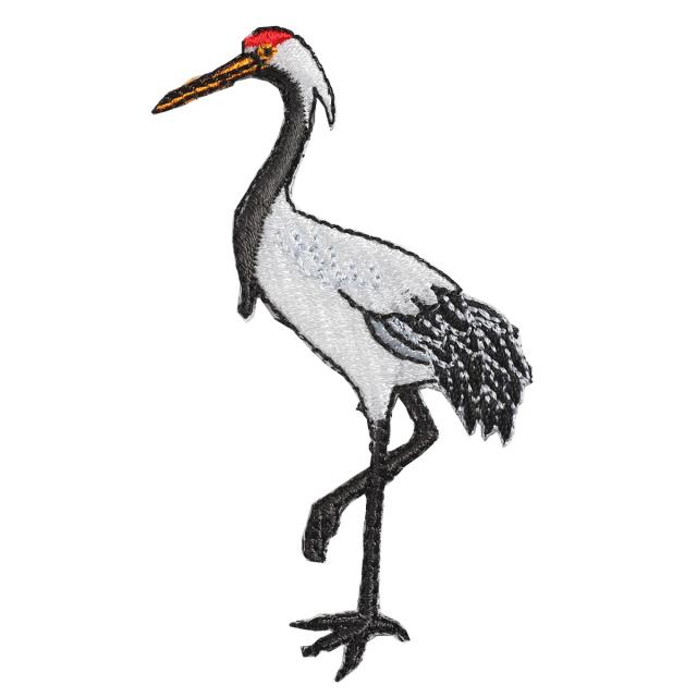 Embroidery patch ''Red-Crowned Crane''
