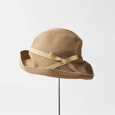 BOXED HAT / 11cm brim grosgrain ribbon