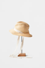 BOXED HAT /  11cm brim garden ribbon