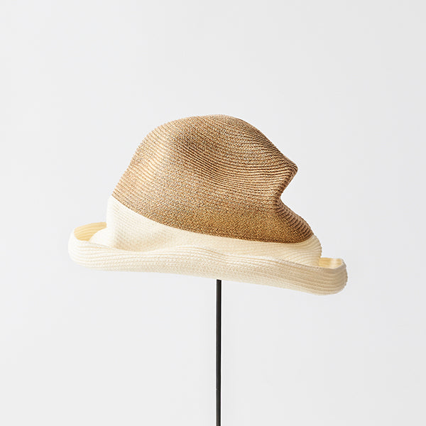 BOXED HAT / 11cm brim 2tone color