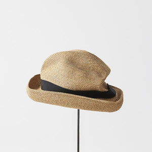 BOXED HAT for men / 7cm brim grosgrain ribbon