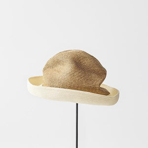 BOXED HAT for women / 7cm brim 2 tone color