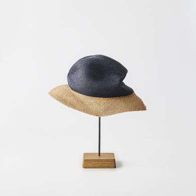 BOXED HAT / 6,5cm brim 2tone color